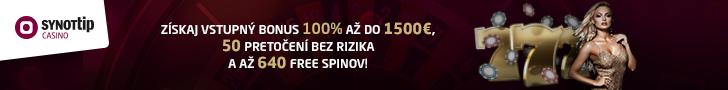 Synottip casino - nové slovenské online kasíno